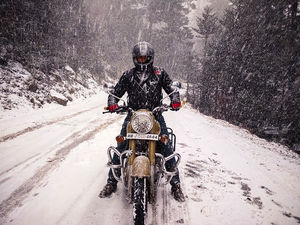 Bhutan: My first snow ride as a rookie. #BestOfTravel