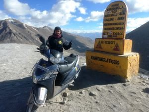 Kashmir to Kanyakumari (3959 kms) on Gear-less Scooter in Record 130 hrs!!!