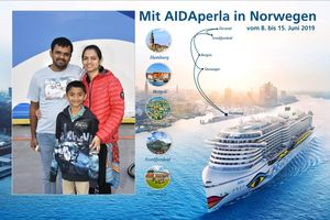Our first Cruise trip with AIDA, Germany to Norway