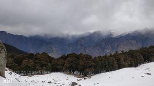 Snow line, Tree line, Mountain line & Sky line.