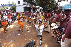 Pulikali  2019 -Tiger dance Thrissur