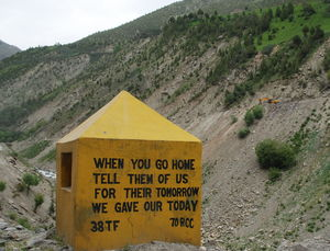 BRO sign boards – Company givers on lonely Himalayan roads