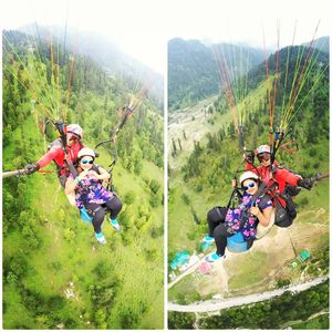 Paragliding at Solang Valley, Manali