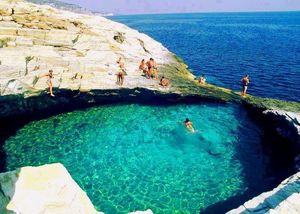 Greece's Hidden Gem - Giola, a Natural Pool Located on the Island of Thassos
