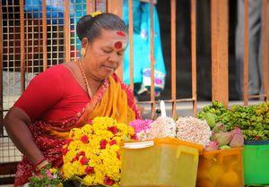 A morning view in front of meenakshiyamman kovil, Madurai