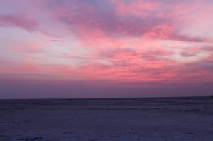 Colofull painting on the sky.. sunrise magic in the white desert #rannofkutch #sunrise #bestpictures