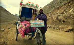 Kolkata To Ladakh In A Rickshaw-This Rickshaw-Puller's Story Proves Travel Solely Needs Will-Power