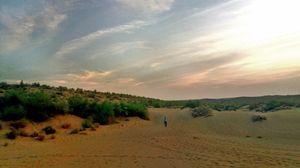 A Soul Filling Night in Desert Under Open Sky