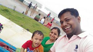 Enjoying rain at New Digha sea beach #SelfieWithAView #TripotoCommunity