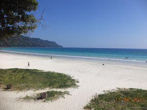 Top view of Radhanagar Beach, Havelock Island, Andman Nicobar