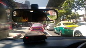 A Traffic Without Horn in Thailand Bangkok