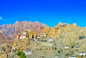 My balcony view. Dhangkar Village and Monastery. #BestTravelPictures @TripotoCommunity