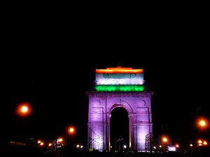 India Gate on Independence Day