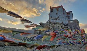 The majestic Stakna Monastery, Ladakh.