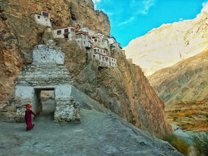 Spreading Smiles at Phuktal Monastery, Zanskar Valley.