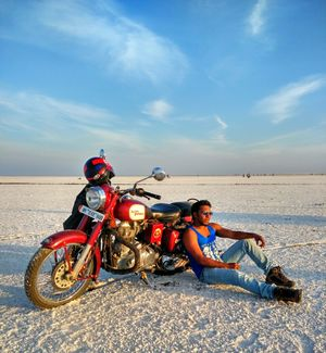 Winter Bike Ride Through White Sands And Cities of Forts and Palaces