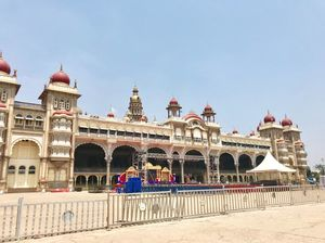 Colourful & architecturally thrilling Mysore Palace #tenphotos