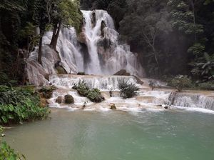 Kuang si waterfalls:The heaven you would want to reside forever