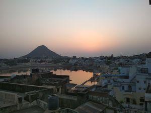 Pushkar - Ghats, Bazaar, Temple and Sunset.
