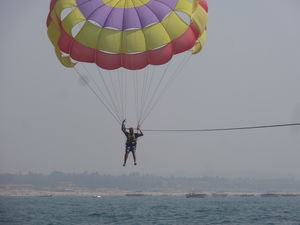 Parasailing at Calangute Beach - GOA