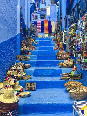 This place truly blue my mind! #colourblue #bluepearlofmorocco