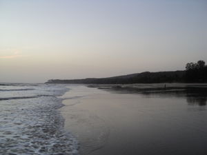 Serenity in beauty of sunset at Kashid beach