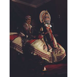 Kathak Kali performance at Kochi #BestTravelPictures@tripotocommunity