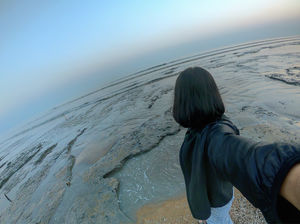 Exploring tide pools off the coast Of Tajpur  #SelfieWithAView #TripotoCommunity