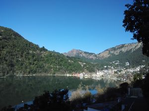 Stunning view of Naini Lake from my room