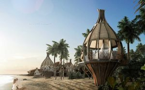 This luxurious boutique hotel in Mexico ensures maximum contact with nature!
