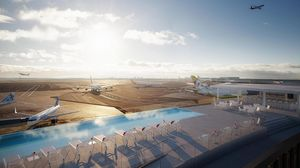 Pool, Beer, and Aeroplanes - How's that for a view?