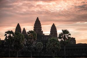 When Sun was just about to rise in Siem Reap, Cambodia