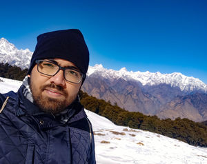 The clear blue sky and the great himalayas! #SelfieWithAView #TripotoCommunity