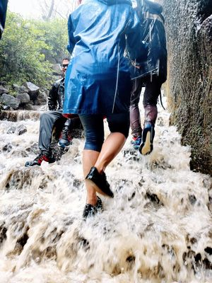 Waterfall stairways at Visapur Fort, Lonavala, Maharastra????????