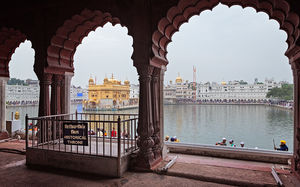 Title: Golden Temple from a rarely seen vantage point #BestTravelPictures  Theme: Architecture