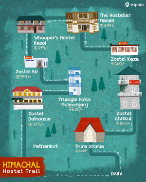 A Hostel map of Himachal for Every Backpacker