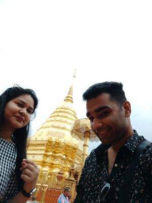 And then you have a Golden view in the background. #Selfiewithaview #tripotocmunity