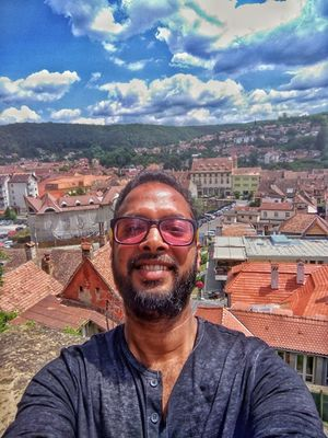 #SelfieWithAView #TripotoCommunity  The beautiful town of Sighisoara, Romania in the backdrop