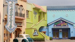 Behind the sets of Ramoji Film City, Hyderabd