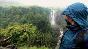 View from 300 feet high, Patalpani Waterfall #SelfieWithAView #TripotoCommunity