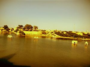 The serenity of Amar Sagar Lake