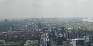 Noida from 43rd Floor of SuperNova #BestTravelPictures
