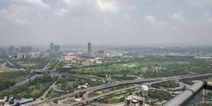 Noida from 43rd Floor of SuperNova #BestTravelPictures