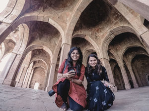 Selfie at Jumma Masjid, Mandu #SelfieWithAView #TripotoCommunity