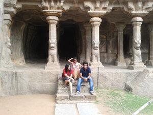 Stones and Sculptures at Mahabalipuram