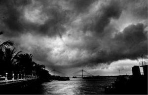 Rain splashed Kolkata