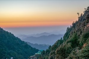 Sunset from triund trek