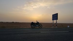 Sun Rise in Rann of Kutch over The Tropic of Cancer