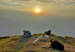 Sunrise from the Chandrashila Peak