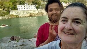 Guiding diane,Ganges dips and life lessons #SelfieWithAView #TripotoCommunity